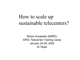 How to scale up sustainable telecenters?