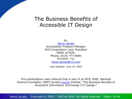 The Business Benefits of Accessible IT Design