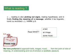 Diapositive 1 - Signes et Sens