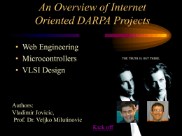 An Overview of Internet Oriented DARPA Projects