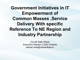 Government Initiatives in IT Empowerment of Common …