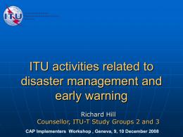 ITU-R Activities on PPDR