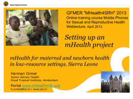 Setting up an mHealth project