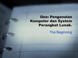 One: Oracle Server dan DBA