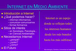 INTERNET EN MEDIO AMBIENTE