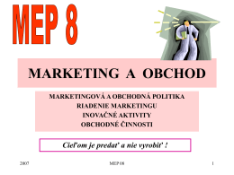 MARKETING A OBCHOD