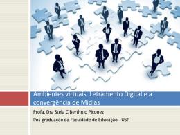 Letramento Digital: ferramentas web 2.0 e redes sociais em