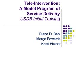 Building Family-Provider Realtionships via Tele