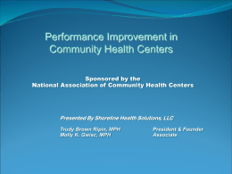 Performance Improvement for Community Health Centers