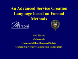 An Advanced Service Creation Language (SCL) based on