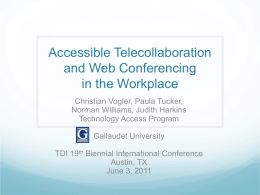 Accessible Telecollaboration and Web Conferencing in the