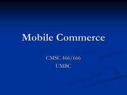 Mobile Commerce - Computer Science and Electrical …