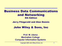 Chapter 1. Introduction to Data Communications