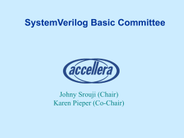 SystemVerilog Basic Committee