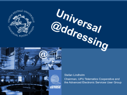 Universal Addressing