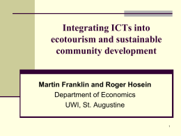 Integrating ICTs into ecotourism and sustainable …
