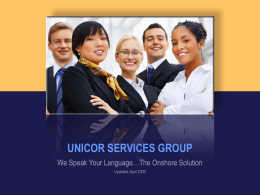 UNICOR SERVICES