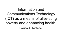 Information and Communications Technology (ICT) as a …