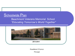 RPS Schoolwide Plan - Revere Public Schools