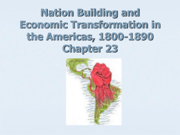 Nation Building and Economic Transformation in the