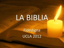 LA BIBLIA - Lic. Jonathan Latham