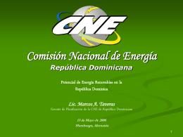 LEY 57-07 de Incentivo a las Energias Renovables y