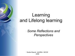 Lifelong learning - Ifip-tc3