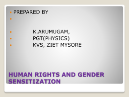 HUMAN RIGHTS - kvszietmysorephysics