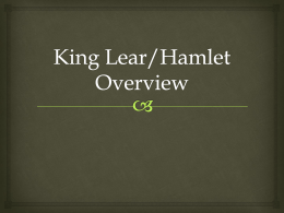 King Lear Overview - Comsats Virtual Campus