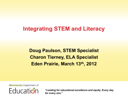 Integrating STEM and Literacy