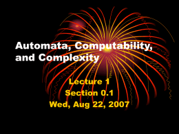Automata, Computability, and Complexity - H-SC