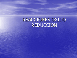 REACCIONES OXIDO REDUCCION