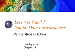 Lecture 6 U.S. National Spatial Data Infrastructure