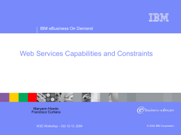 Web Services Capabilities and Constraints