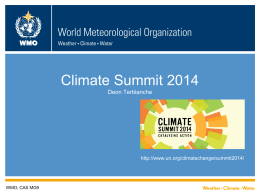 Presentation title here - World Meteorological Organization