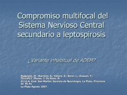 Encefalomielitis aguda diseminada (ADEM) secundaria a