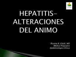 ALTERACIONES DEL ANIMO Y HEPATITIS