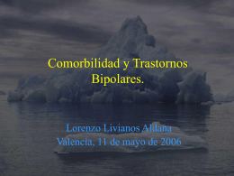 Comorbilidad y Trastornos Bipolares.
