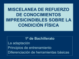 MISCELANEA DE REFUERZO DE CONOCIMIENTOS …