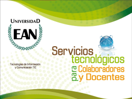 Diapositiva 1 - Universidad EAN