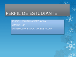 PERFIL DE ESTUDIANTE - Eduteka