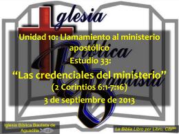 2 Corintios - Iglesia Biblica Bautista de Aguadilla