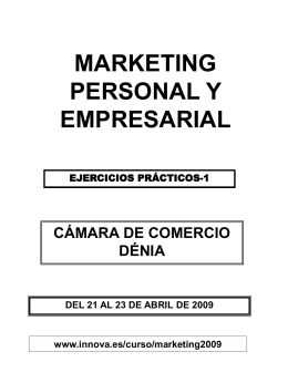 MARKETING PERSONAL Y EMPRESARIAL
