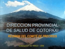 DIRECCION PROVINCIAL DE SALUD DE COTOPAXI