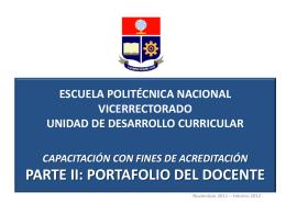 MODELO EDUCATIVO EPN – PROPUESTA