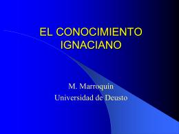 EL CONOCIMIENTO IGNACIANO - CPAL