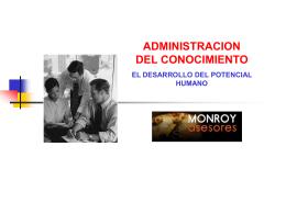 MATERIAL CURSO ADMINISTRACION DEL CONOCIMIENTO