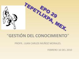 EPO 29 TEPETLIXPA, MEX.