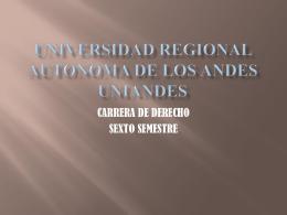 UNIVERSIDAD REGIONAL AUTONOMA DE LOS ANDES …