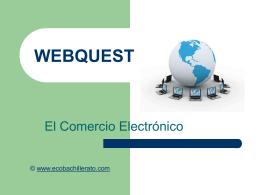 WEBQUEST - ecobachillerato.com